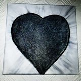 Original painting darkest of hearts