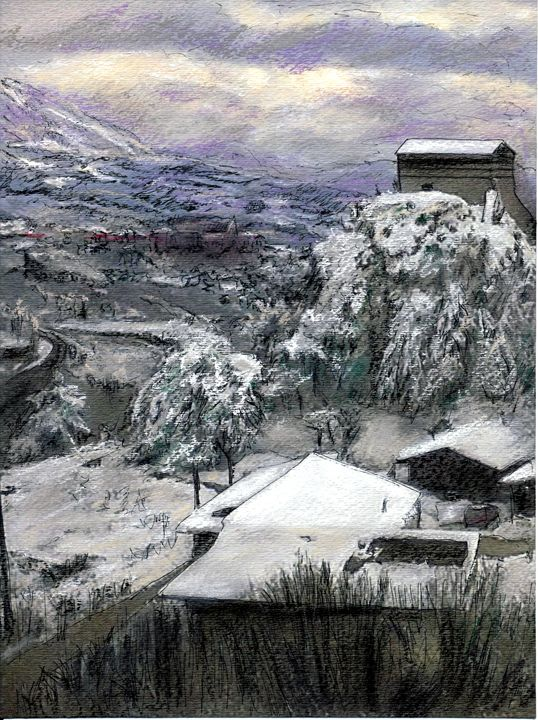 Chiesa San Vito In The Snow - Randy Sprout Fine Art