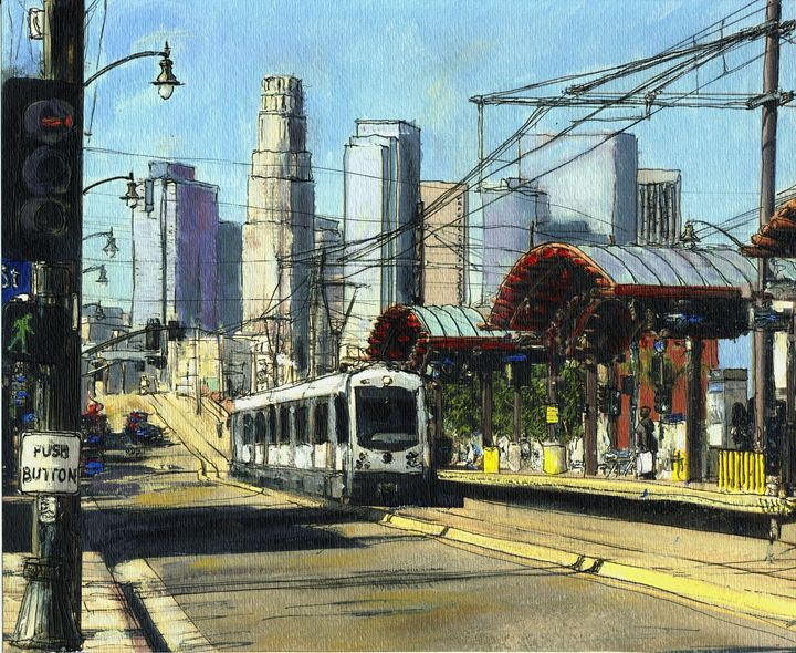1st Street Train Station LA - Randy Sprout Fine Art