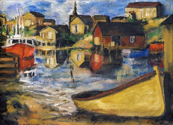 Peggy's Cove Dingy Haul out - Randy Sprout Fine Art