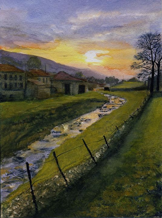 Spring Sun Rise Muker - Randy Sprout Fine Art
