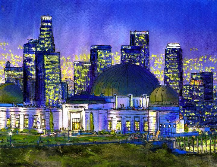 Griffith Observatory Nocturne - Randy Sprout Fine Art
