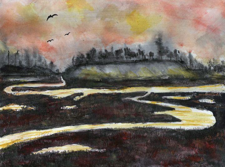 Back Bay After Sunse - Randy Sprout Fine Art