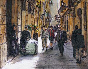 Barcelona Street Sketch