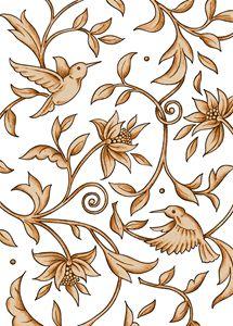 Humming Bird & Floral