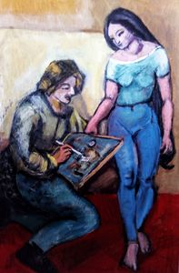 The painter and the model - texnis aep