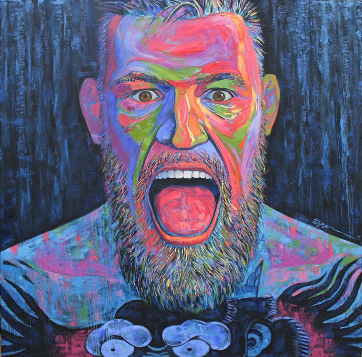 Conor Mcgregor's huge portrait - Vision4art