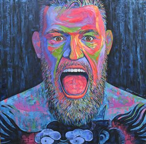 Conor Mcgregor's huge portrait