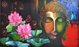 Magnificent oil painting of Buddha
