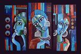 Abstract mixed media artwork