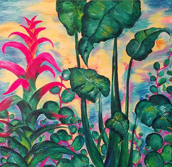 Jungle garden sunset - Vero Beach Ecclectic