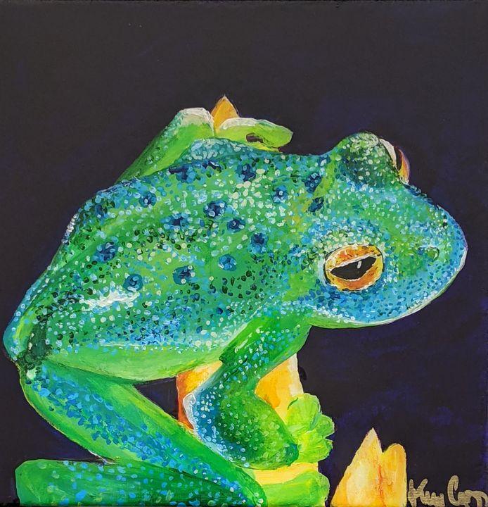 Happy glass frog - Vero Beach Ecclectic