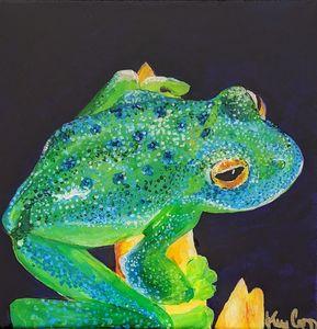 Happy glass frog