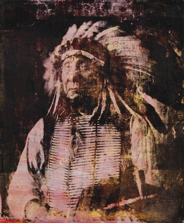 Red Cloud. Ogalala Dakota 1897 - Stephane Korb Art