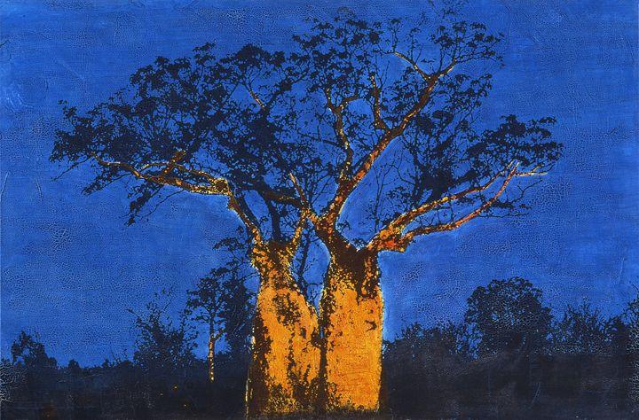 Two baobabs in australia - Stephane Korb Art