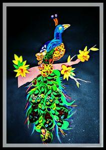 Beautiful peacock wall art