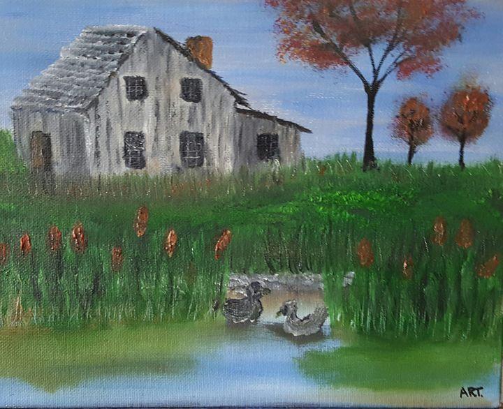 Autumn Cattails - AMYTINDALLART
