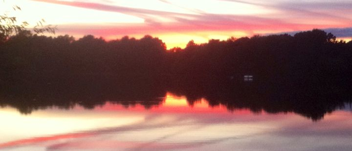 Red Sunset UEA - SJB Norfolk Artist
