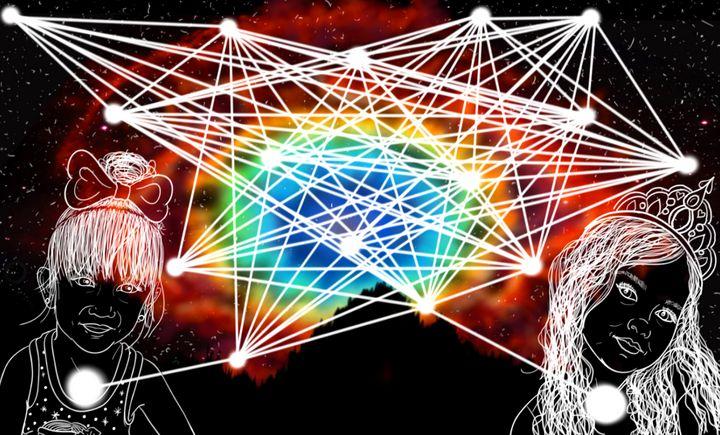 Sacred Child Web - Eye of God - Sacred Resonance Art