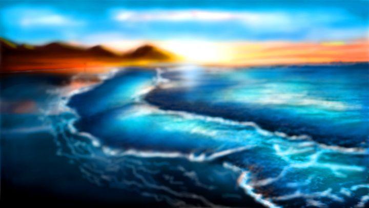 Ocean at Sunset - Sacred Resonance Art