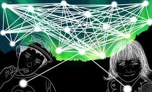 Sacred Child Web - Green Borealis