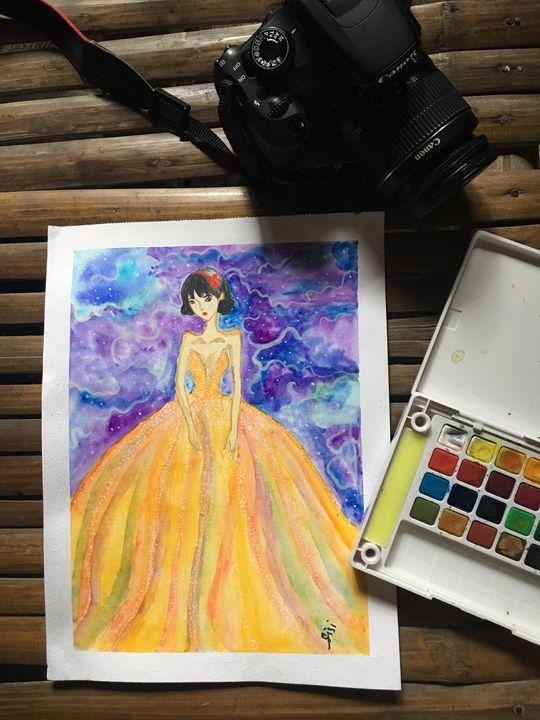 Girl in Rainbow Dress - Tara and Syd