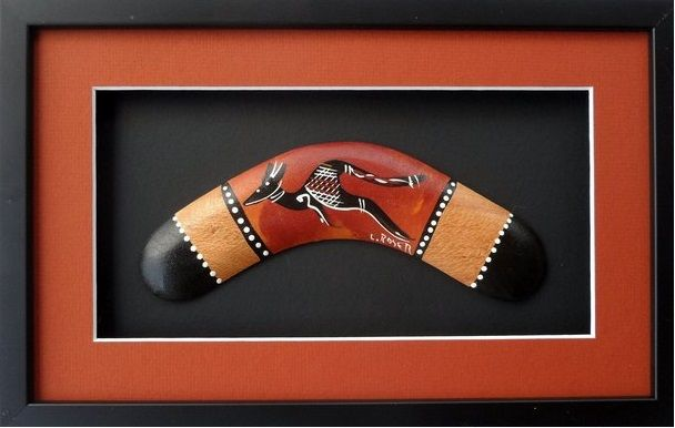Framed boomerang - Kiss the Kangaroo