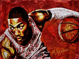 Derrick Rose - M. Arango Art