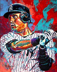 Jeter at Bat - M. Arango Art