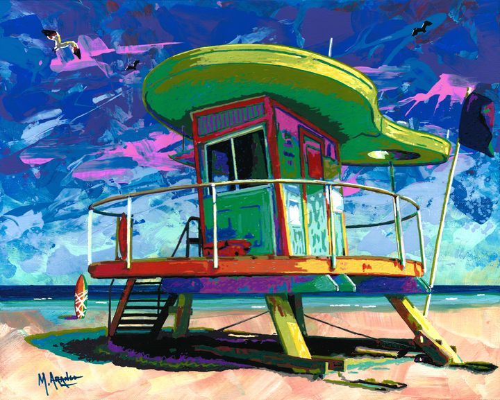 Lifeguard Tower - M. Arango Art