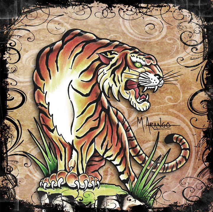 Asian Tiger - M. Arango Art