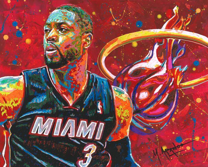 Miami Heat Legend - M. Arango Art