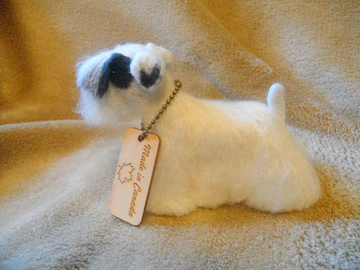 Sealyham Terrier Show Dog Art Felt - FibreHeart Wool Studio
