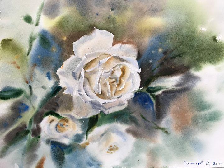 White roses - Eugenia Gorbacheva