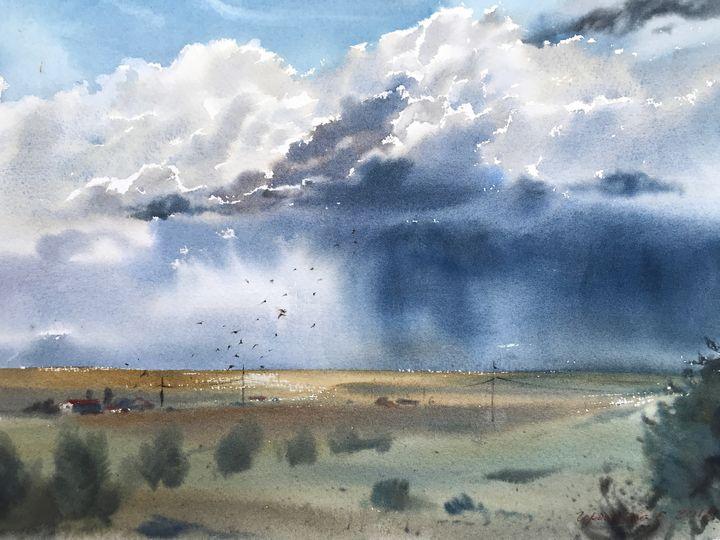 Field and sky - Eugenia Gorbacheva