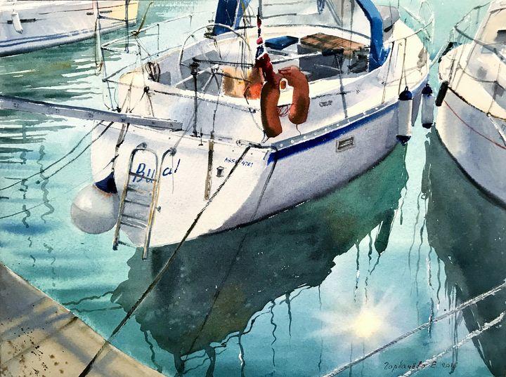 Moored yachts (II), Montenegro - Eugenia Gorbacheva
