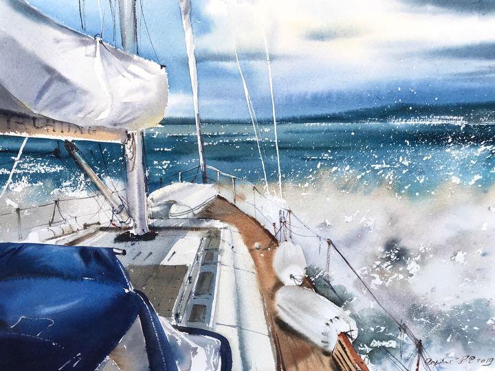 On the yacht - Eugenia Gorbacheva