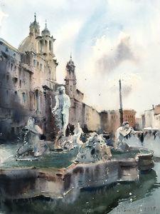Fontana del Moro at Piazza Navona
