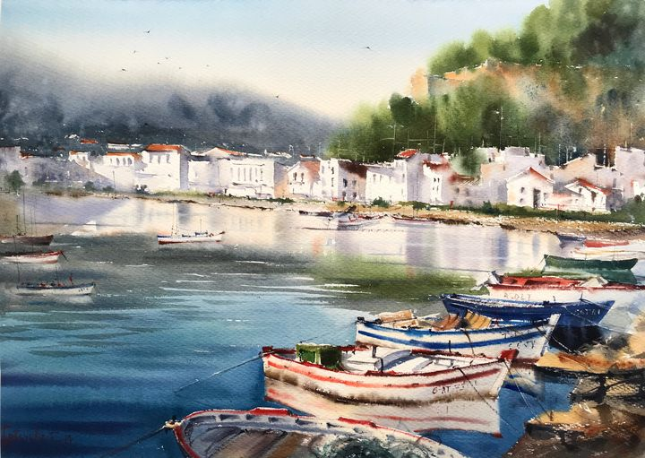 Moored boats - 2 - Eugenia Gorbacheva