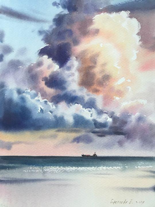 Clouds at sunset - Eugenia Gorbacheva
