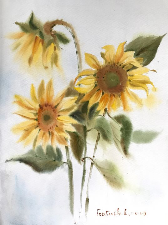 Sunflowers - Eugenia Gorbacheva
