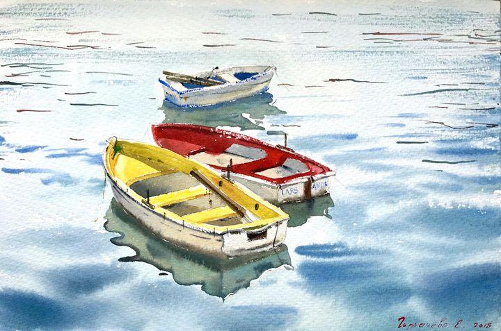 Boats in England - Eugenia Gorbacheva