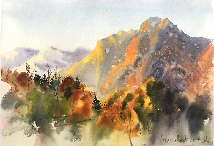 Autumn mountains - Eugenia Gorbacheva