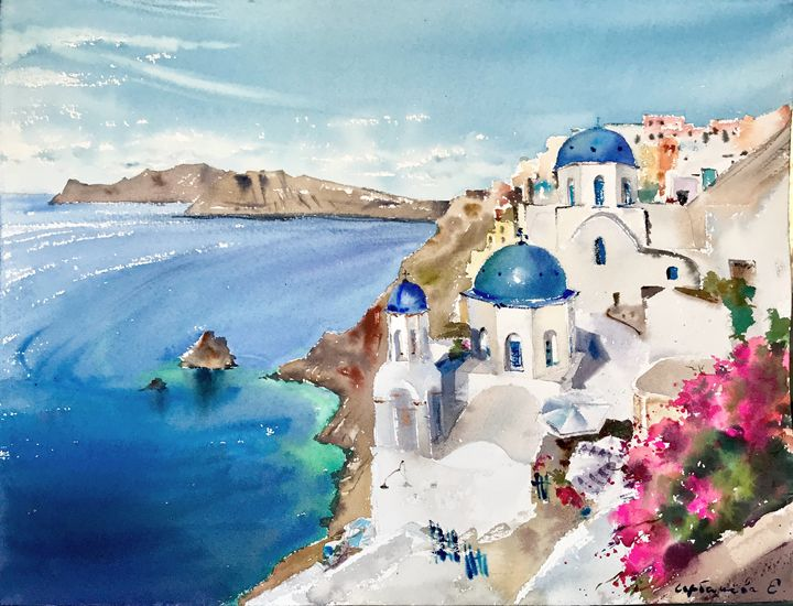 Santorini, Greece - Eugenia Gorbacheva