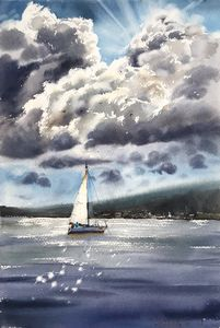Sailboat and clouds #2