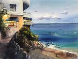 Hotel on the beach, Spain