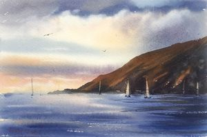 Yachts along the coast