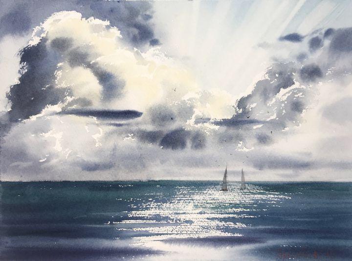 Yachts at sea - Eugenia Gorbacheva