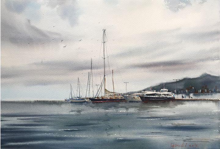 Moored yachts, Palamos - Eugenia Gorbacheva