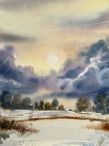 Winter and clouds